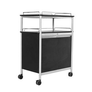 """33.5""""w x 22""""d Black Service Cart MIS011880"""