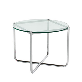 "27""dia Glass Round Side Table TBL007295"