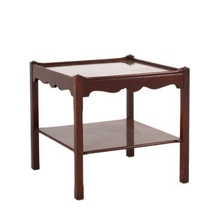 "24""w x 24""d Mahogany Chippendale Side Table TBL009669"