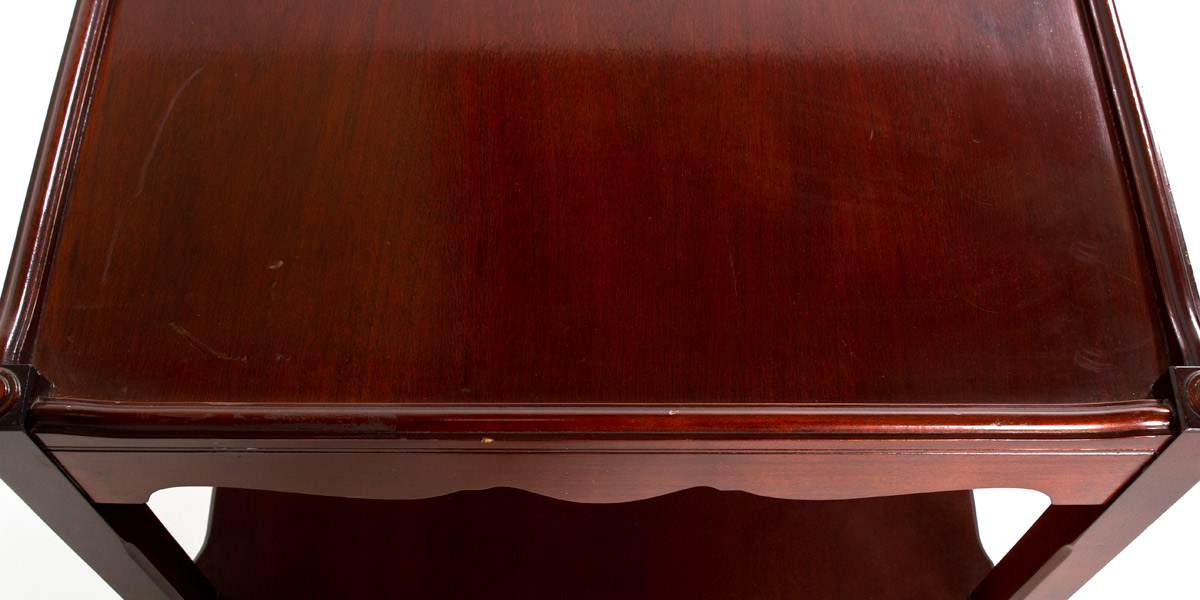 """24""""w x 24""""d Mahogany Chippendale Side Table TBL009669"""