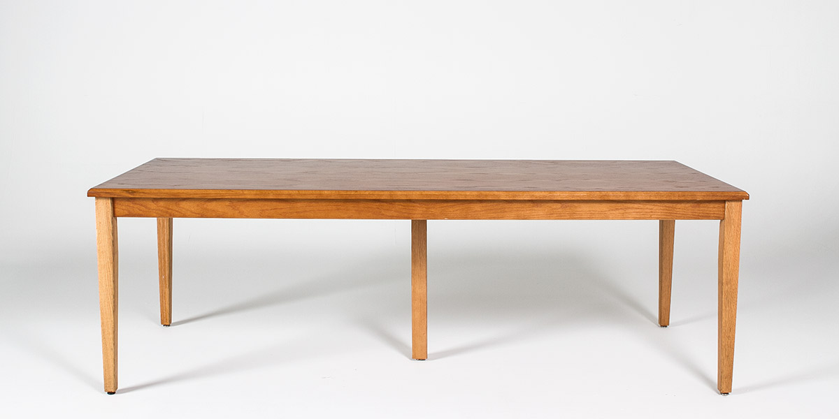 "90""w x 36""d Medium Oak Lincoln Courtroom Table TBL010588"