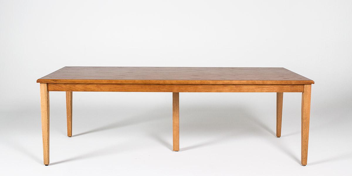 "90""w x 36""d Medium Oak Lincoln Courtroom Table TBL010588"