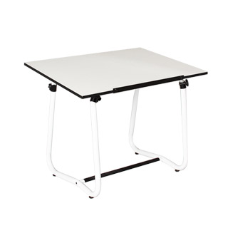 "42""w x 30""d White Adjustable Drafting Table TBL011035"