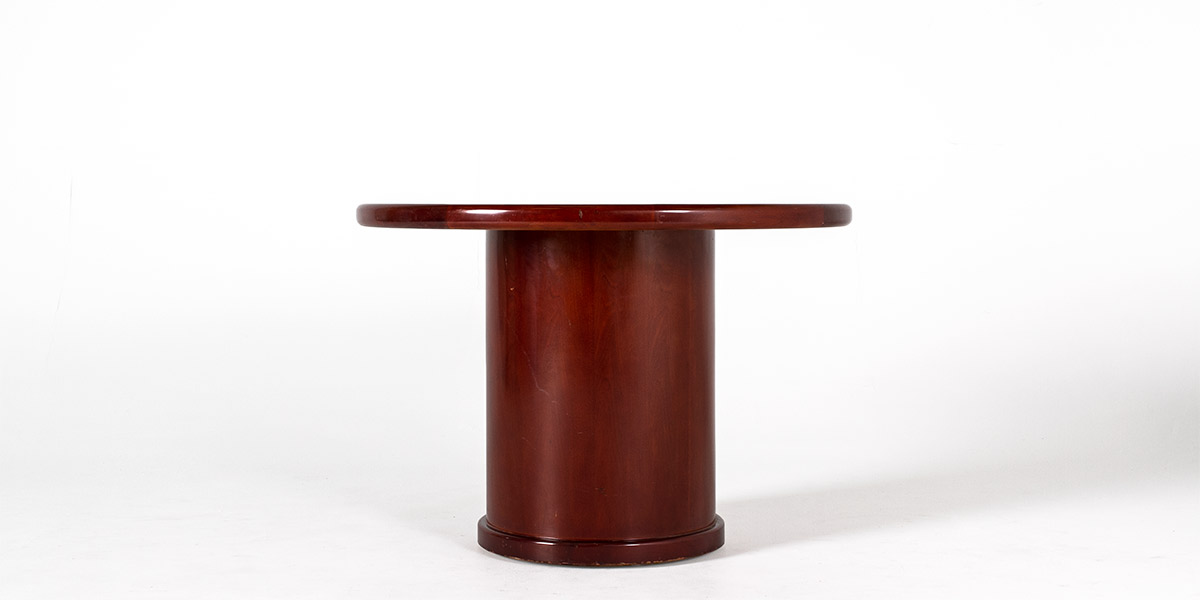 """42""""dia Dark Cherry Round Conference Table TBL011058"""