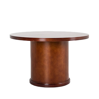 "48""dia Medium Cherry Round Conference Table TBL011631"
