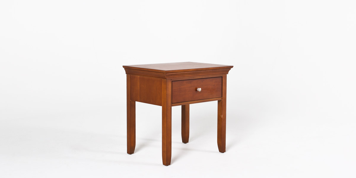 "24""w x 18""d Medium Cherry Nightstand TBL012987"