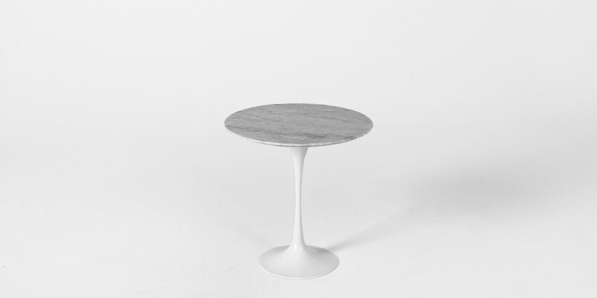 "20""dia Grey Marble Saarinen Table TBL013014"