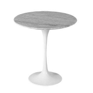 "20""dia Grey Marble Saarinen Table TBL013014"