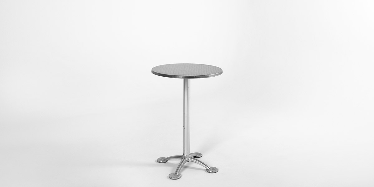 "23""dia Brushed Aluminum Round Table TBR005034"