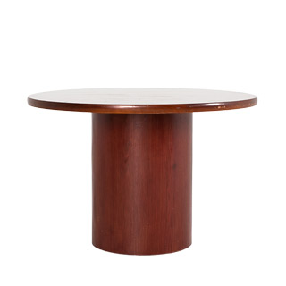 "42""dia Medium Cherry Round Conference Table TBR011621"