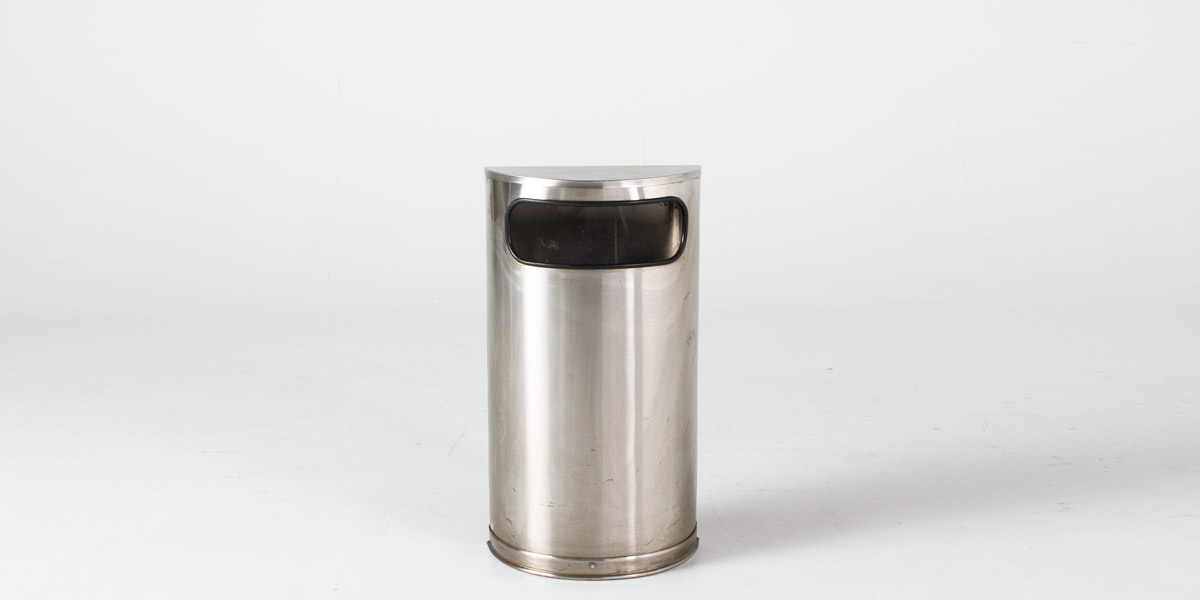 "32""h Stainless Steel Waste Receptacle ACC007122"