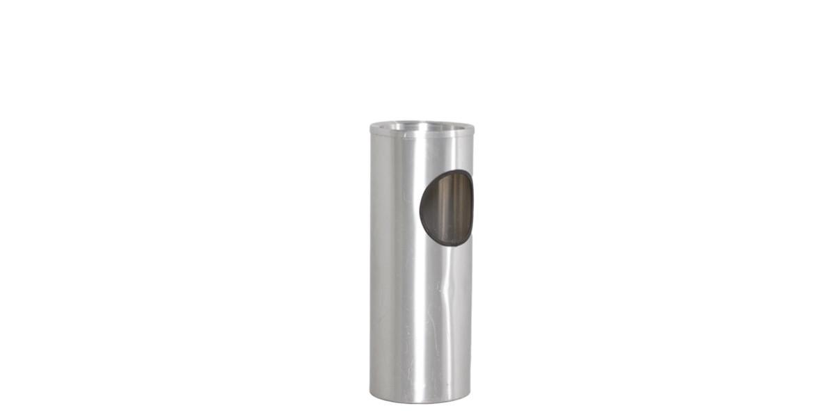 """23.5""""h Polished Aluminum Waste Receptacle ACC008653"""