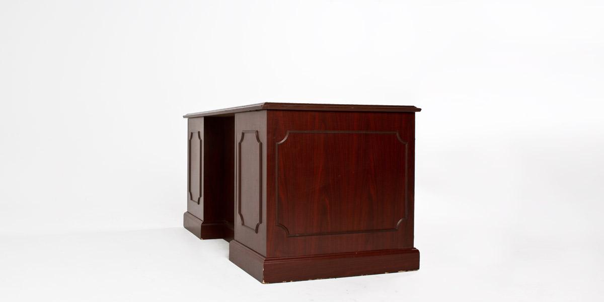 "60""w x 30""d Traditional Mahogany Laminate Desk DSK007155"