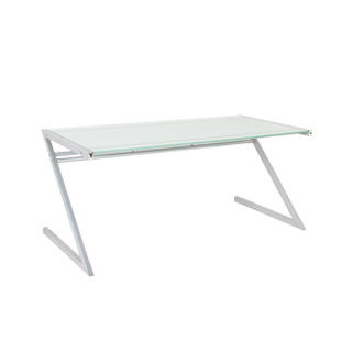 "65.5""w x 31.5""d Frosted Glass Desk DSK008504"