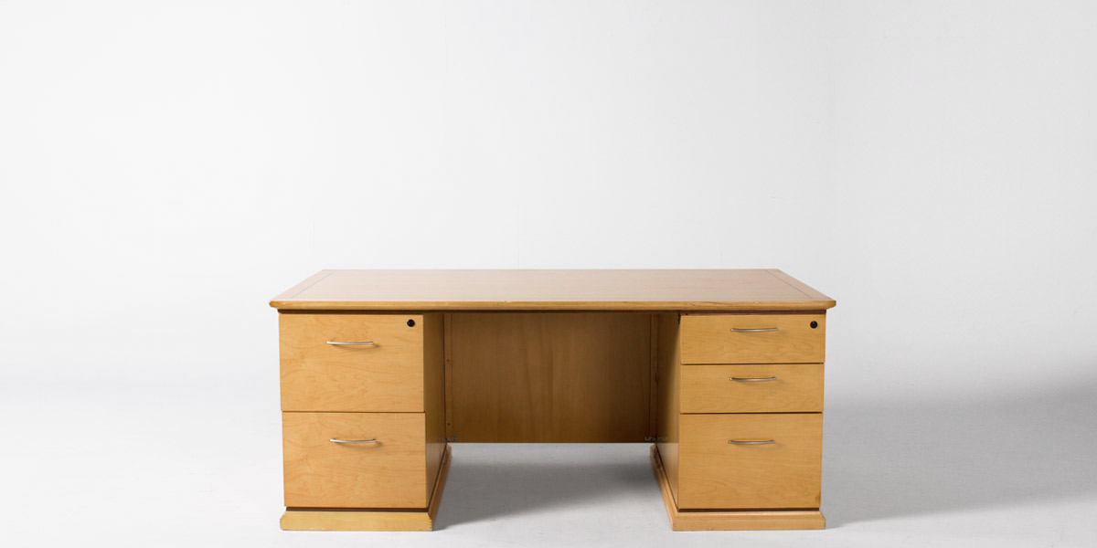 "72""w x 36""d Maple Desk DSK008558"