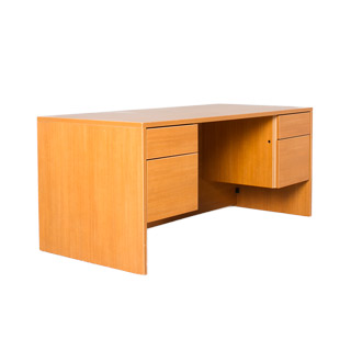 "66""w x 30""d Honey Oak Laminate Desk DSK009619"