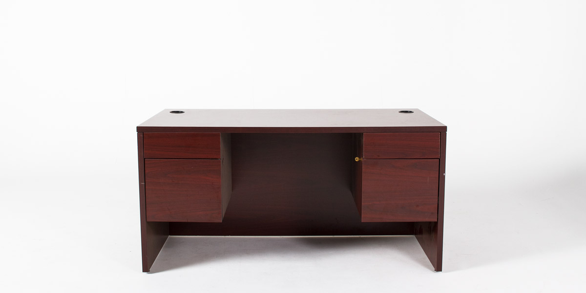 "60""w x 30""d Mahogany Laminate Desk DSK012962"