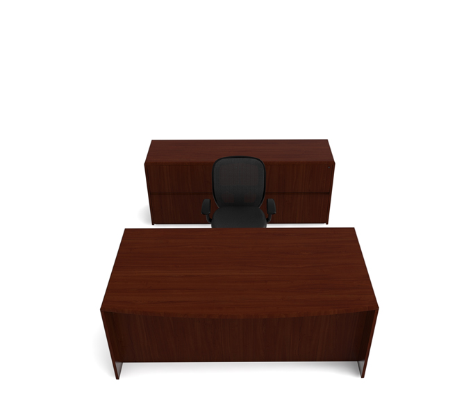 "82""w x 30""d Espresso Right Pedestal Desk DSK013033"