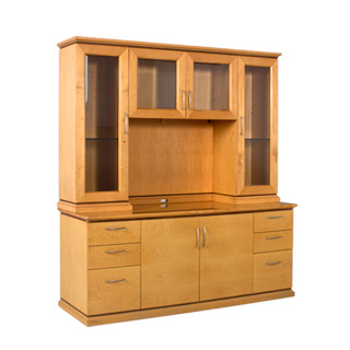 70 w x 49 h maple hutch hut008559 arenson office furnishings for W furniture rental brussels