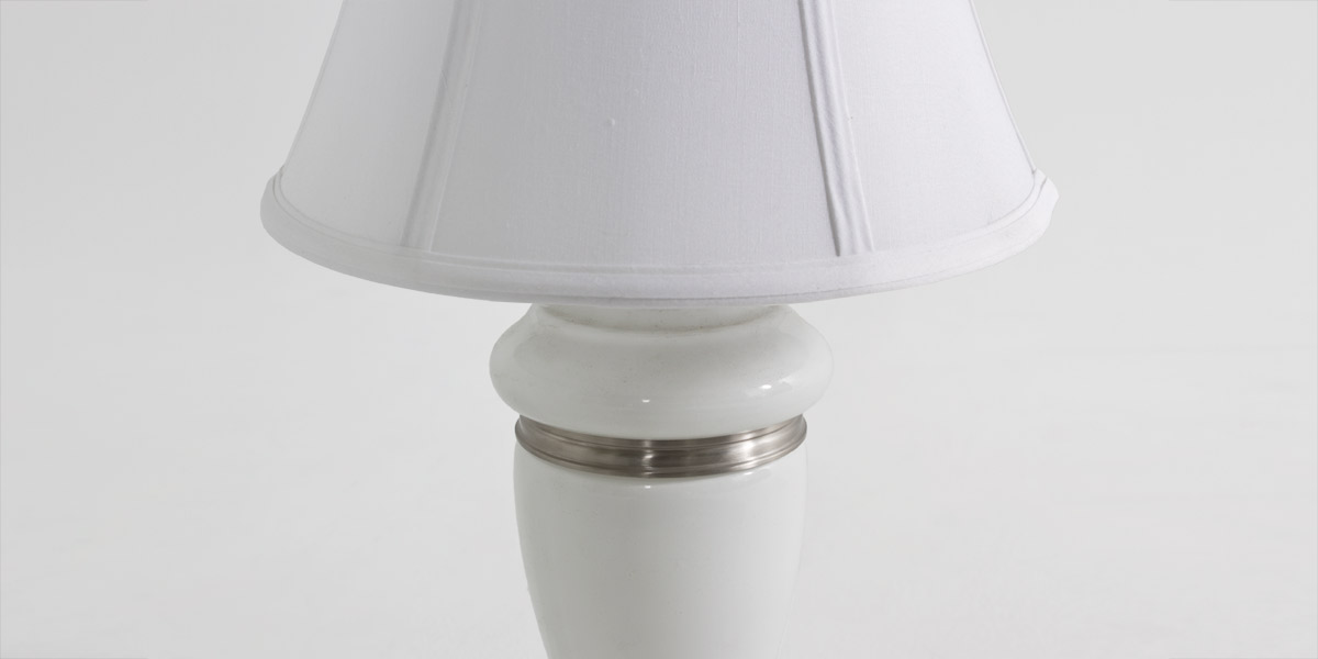 "21""h White Glass Table Lamp LGT010923"