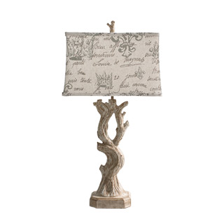 "30.25""h Bone Ceramic Table Lamp LGT013054"