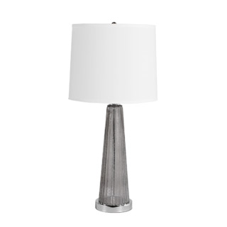 "29""h Smoked Glass Table Lamp LGT013056"