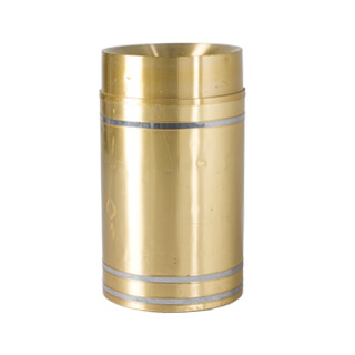 "36""h Brass Waste Receptacle MIS008113"