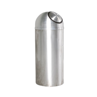 "36""h Brushed Aluminum Waste Receptacle MIS009665"