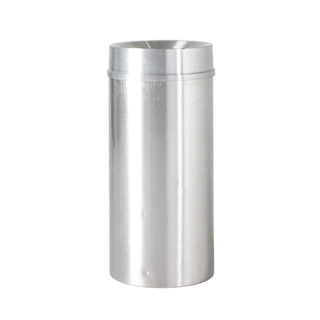 """33""""h Satin Aluminum Waste Receptacle MIS010545"""