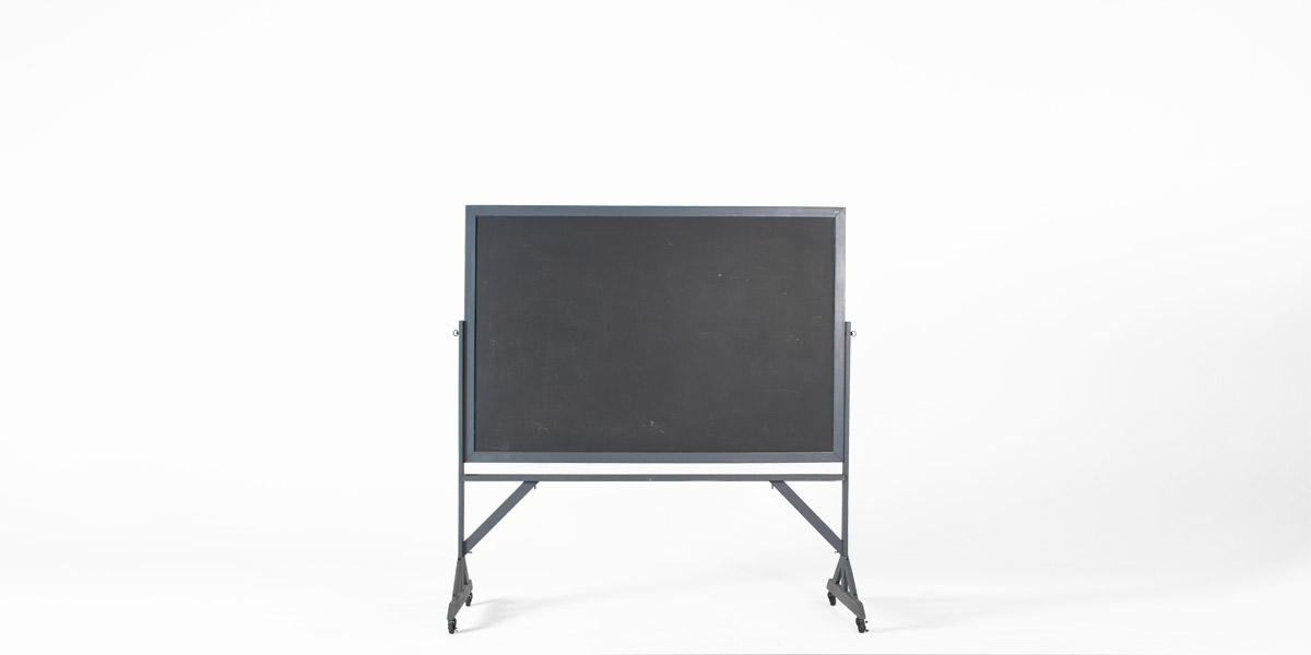 "74""w x 77.5""h Dark Grey Blackboard MIS010887"