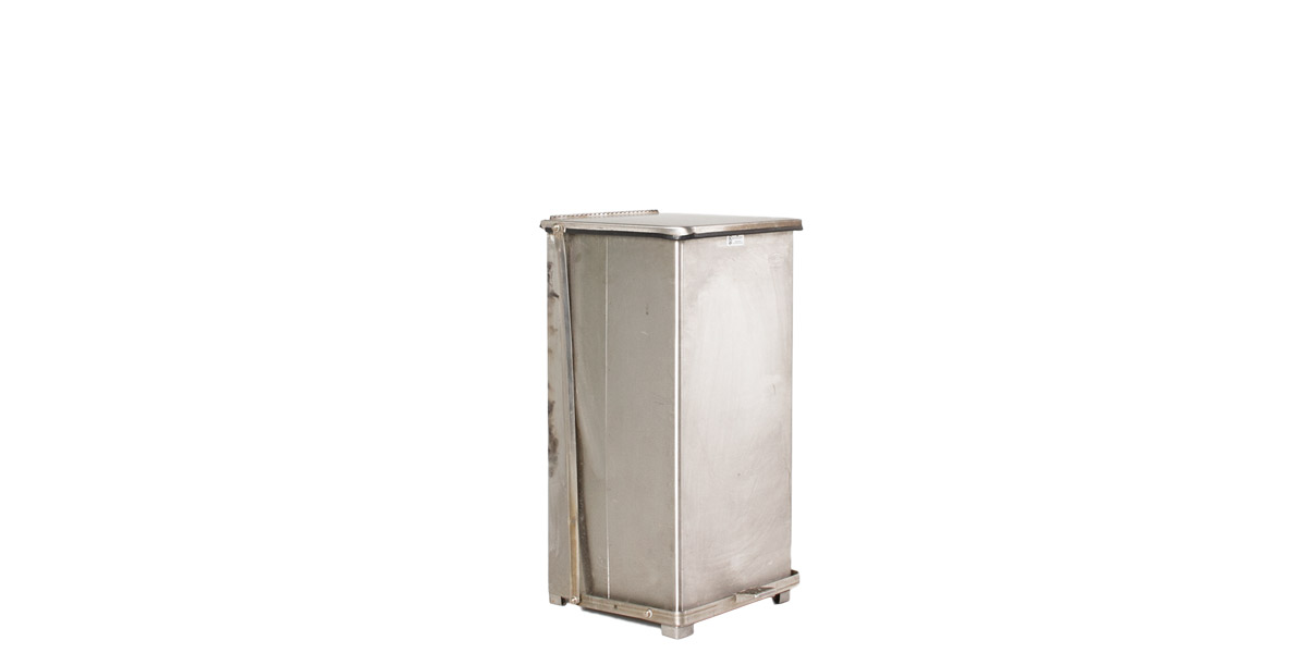 "30""h Stainless Steel Waste Receptacle MIS011039"