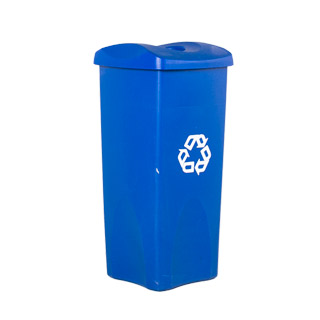"31""h Blue Plastic Recycle Receptacle MIS011735"