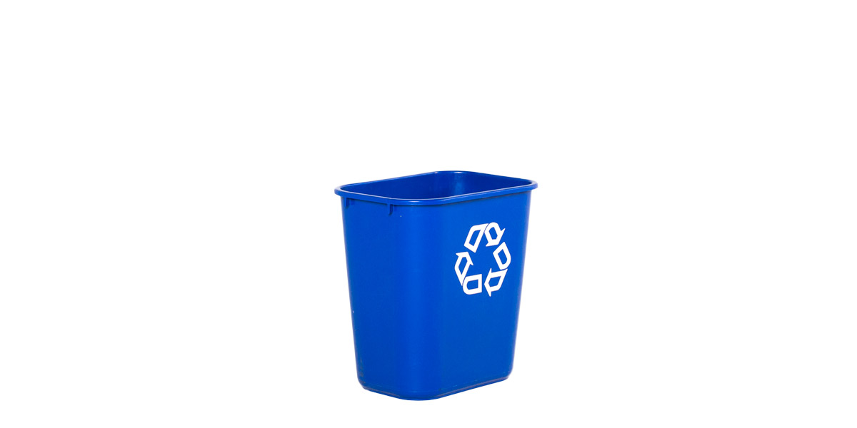 "15""h Blue Plastic Recycle Basket MIS011892"
