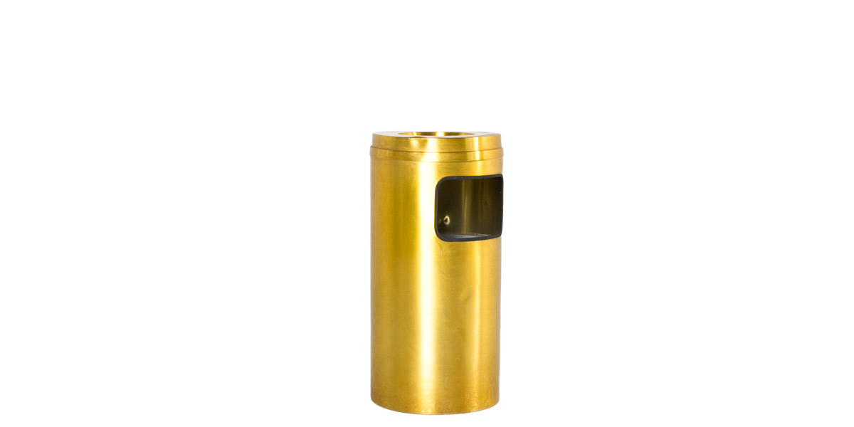 "31""h Satin Brass Waste Receptacle MIS012027"