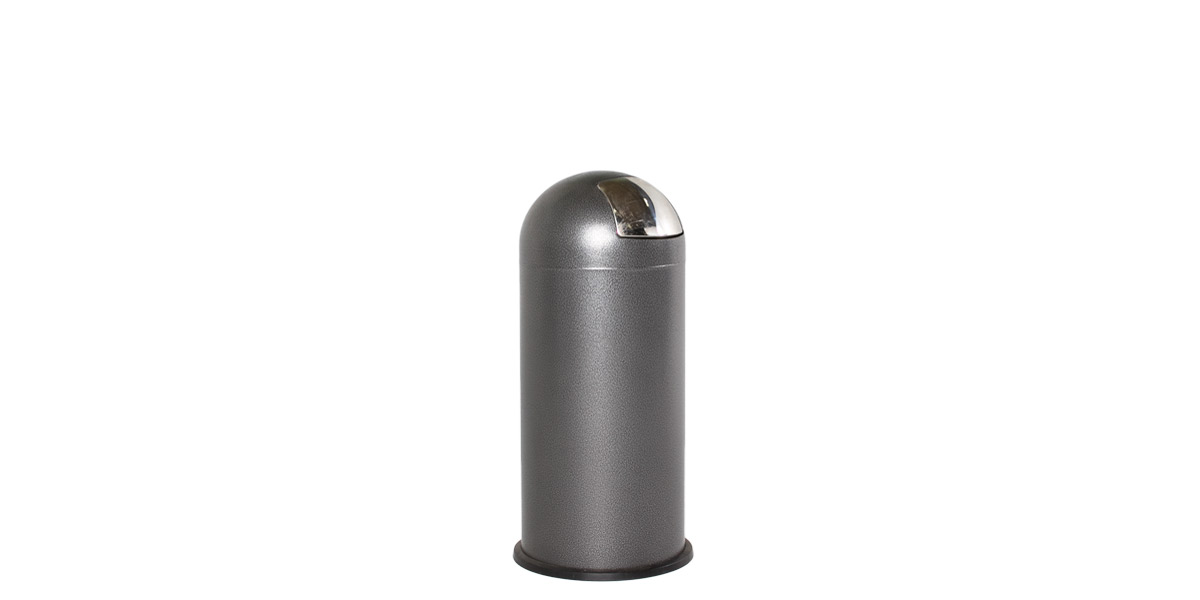 "35""h Dark Grey Waste Receptacle MIS012073"