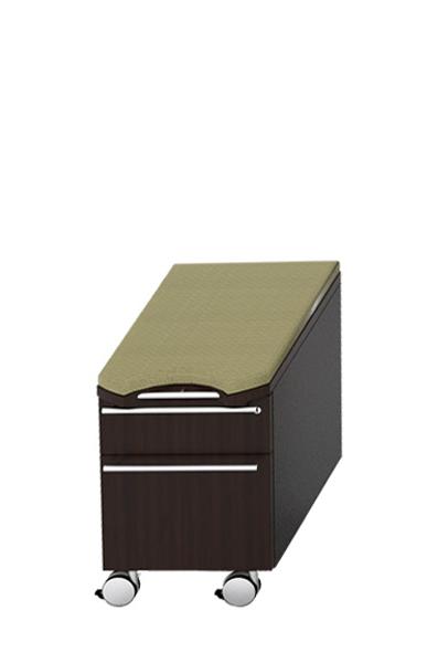 """15.5""""w x 20""""h Espresso Laminate Mobile Pedestal File PED013036"""