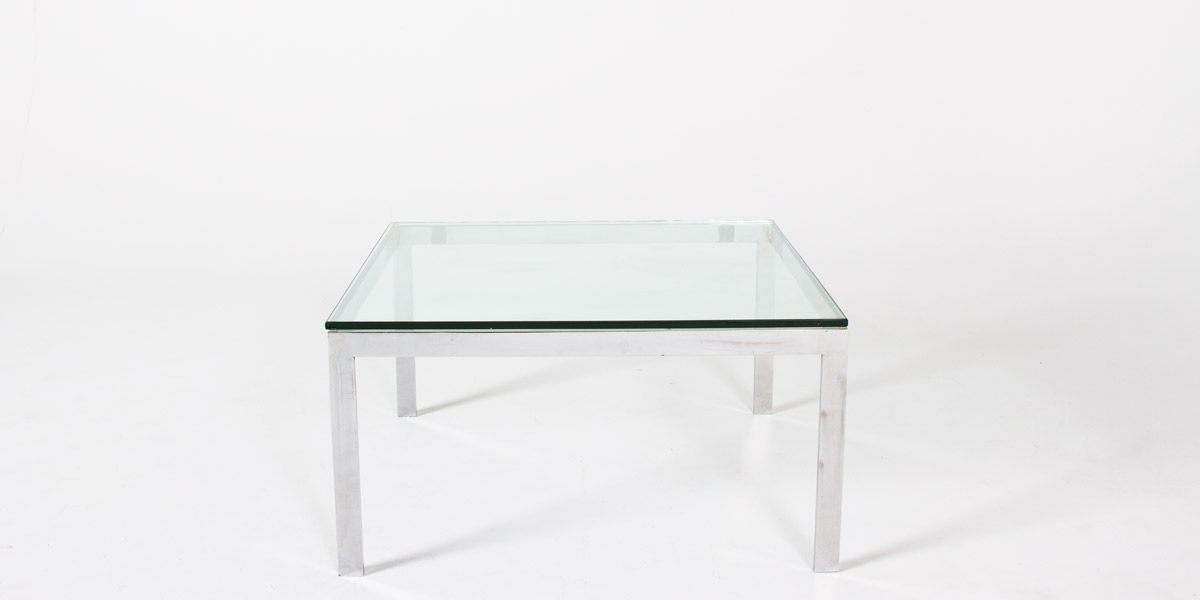 "30""w x 30""d Polished Chrome Coffee Table TBL006373"