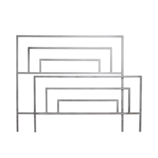 """60""""w x 54.25""""h Brushed Metal Queen Bed BED005986"""