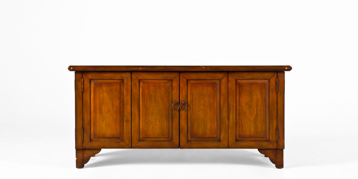"58""w x 19""d Medium Oak TV/Media Cabinet CAB011459"