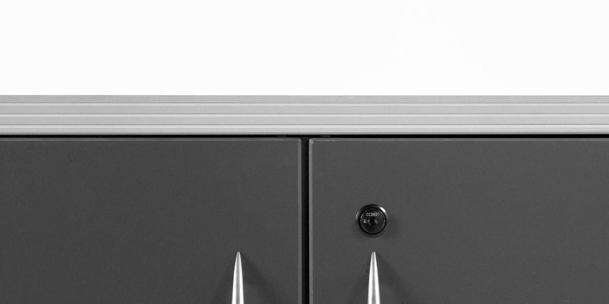 "36""w x 22""d Dark Grey Storage Cabinet CAB011994"