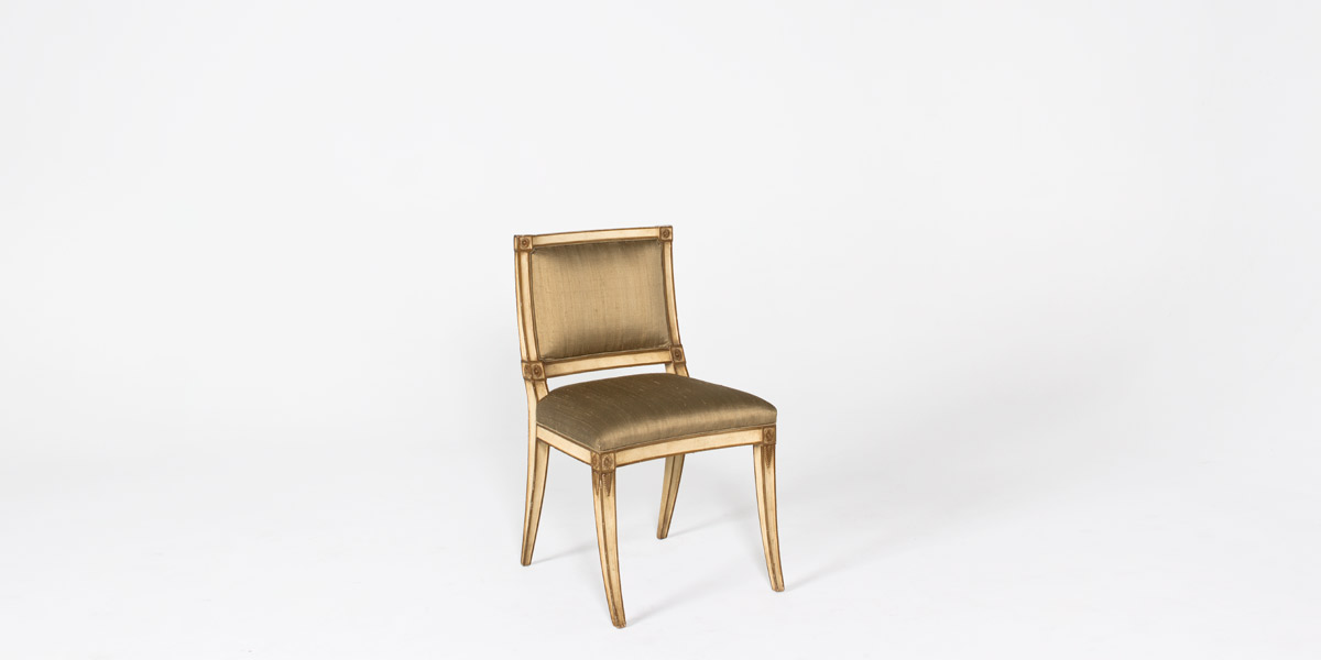 Gold Neo Classical Side Chair CHR003893