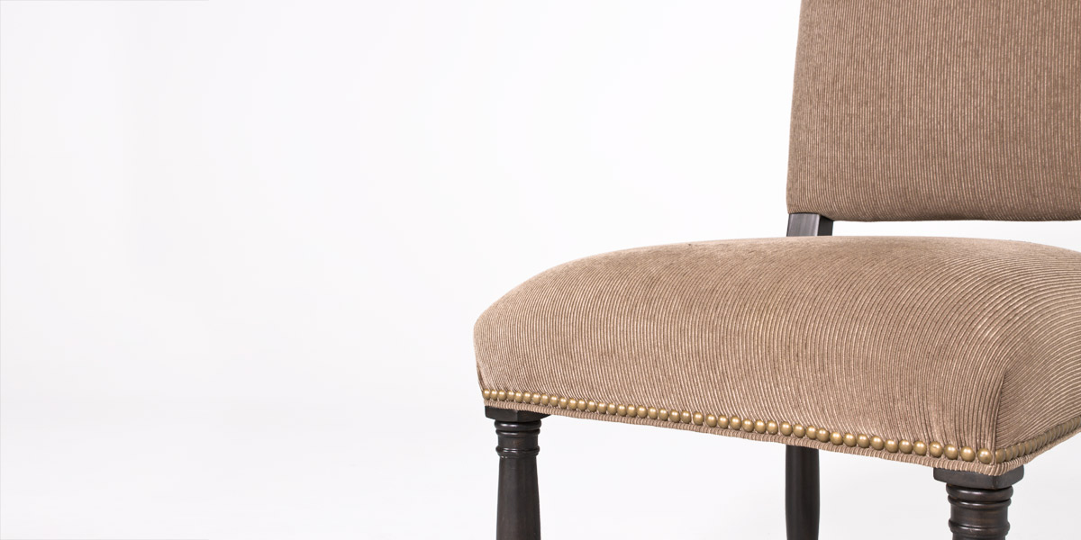 Light Brown Fabric Side Chair CHR012568