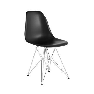 Black Poly Shell Side Chair CHR013177