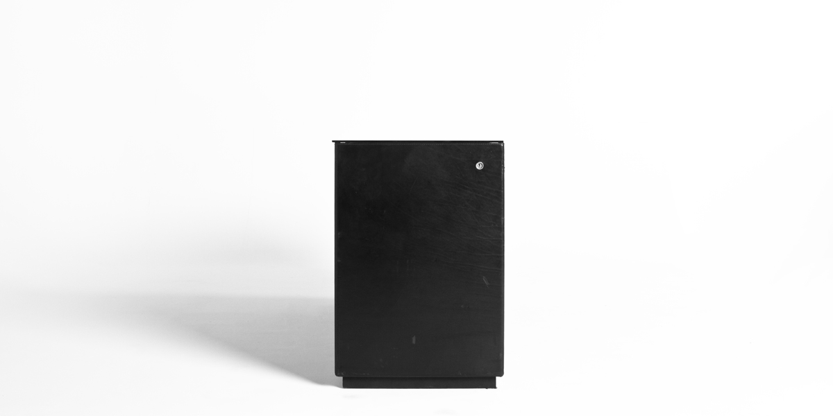 "66""w x 20""d Black Leather Storage Credenza CRD003938"