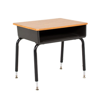 "23""w x 17""d Medium Oak Adjustable School Desk DSK004694"