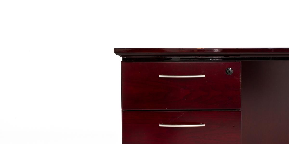 "66""w x 30""d Mahogany Desk DSK010107"
