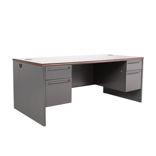 "72""w x 36""d Dark Grey Desk DSK010841"