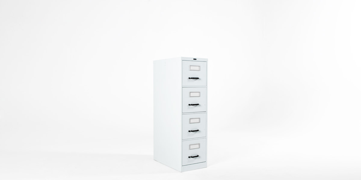 "15""w x 26""d White Metal Vertical File FIL012735"