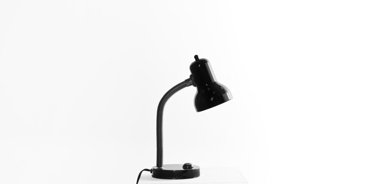 "16.7""h Gloss Black Task Lamp LGT010956"