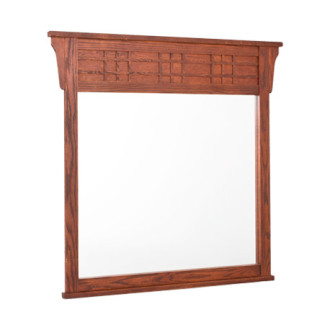 "46.25""w x 45.75""h Medium Cherry Dresser Mirror MIR001768"